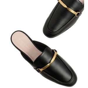 CHARLES & KEITH Metal Accent Slip On Loafers …